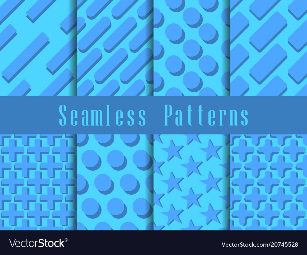 Geometric modern seamless pattern set triangles