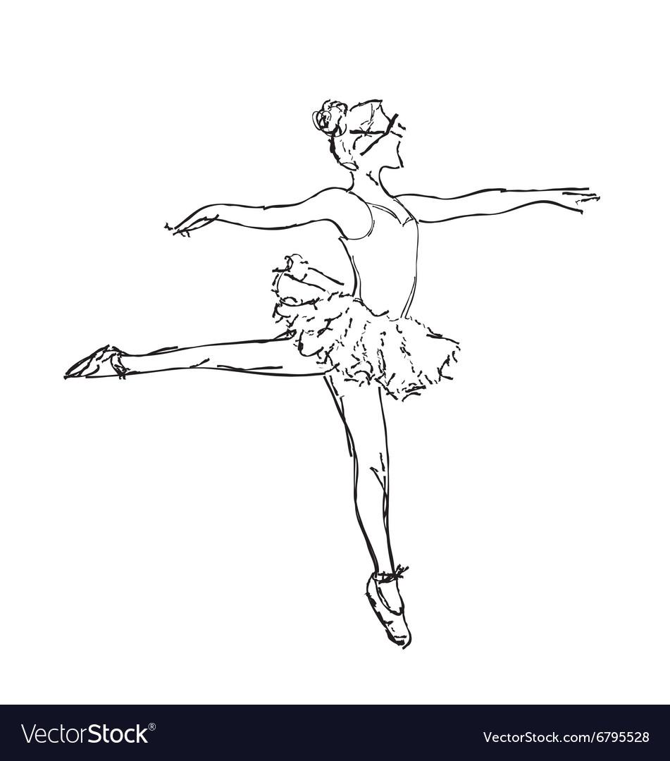 Hand drawn Ballerina dance