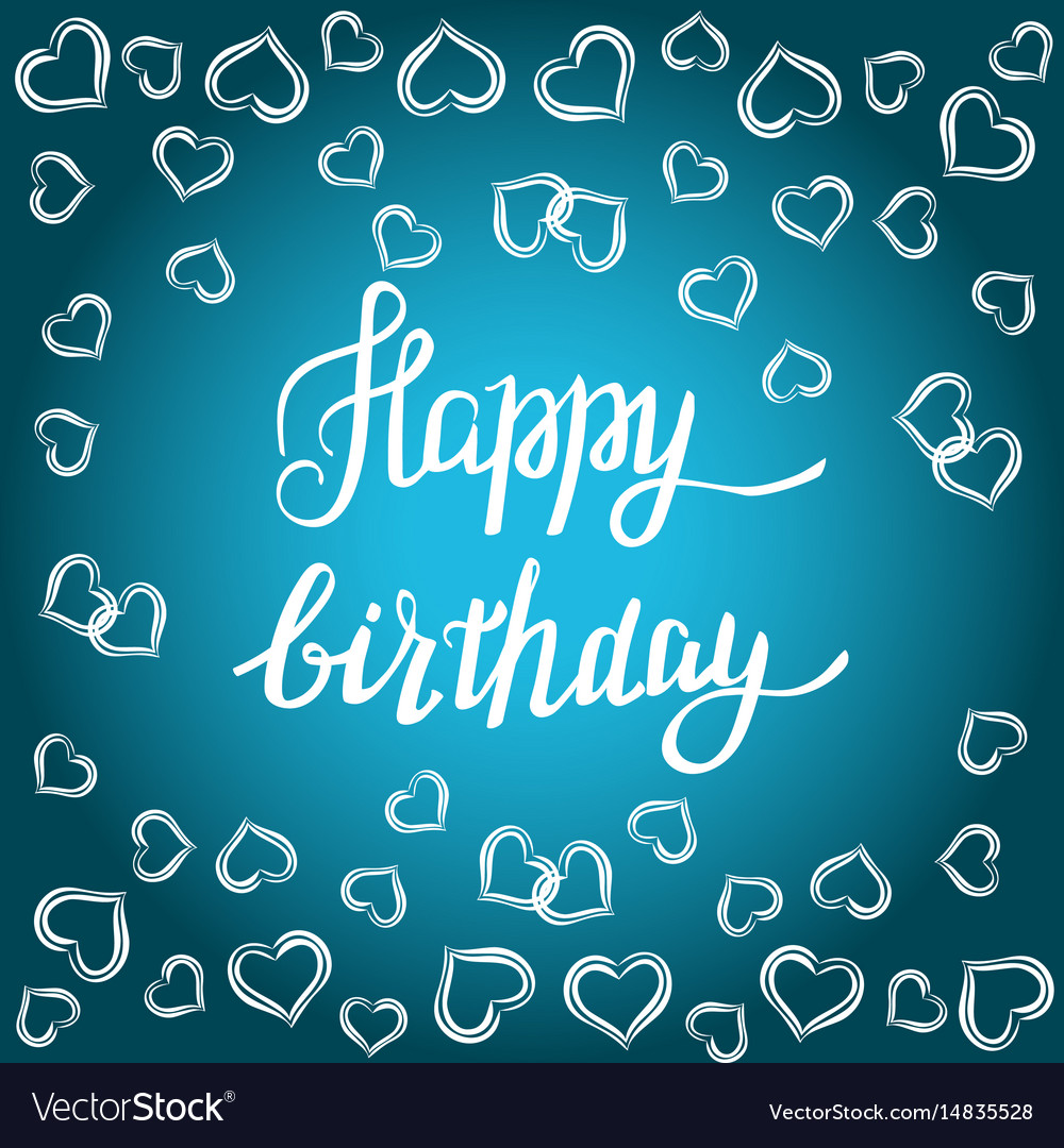 Happy Birthday Gift Card Vector Image