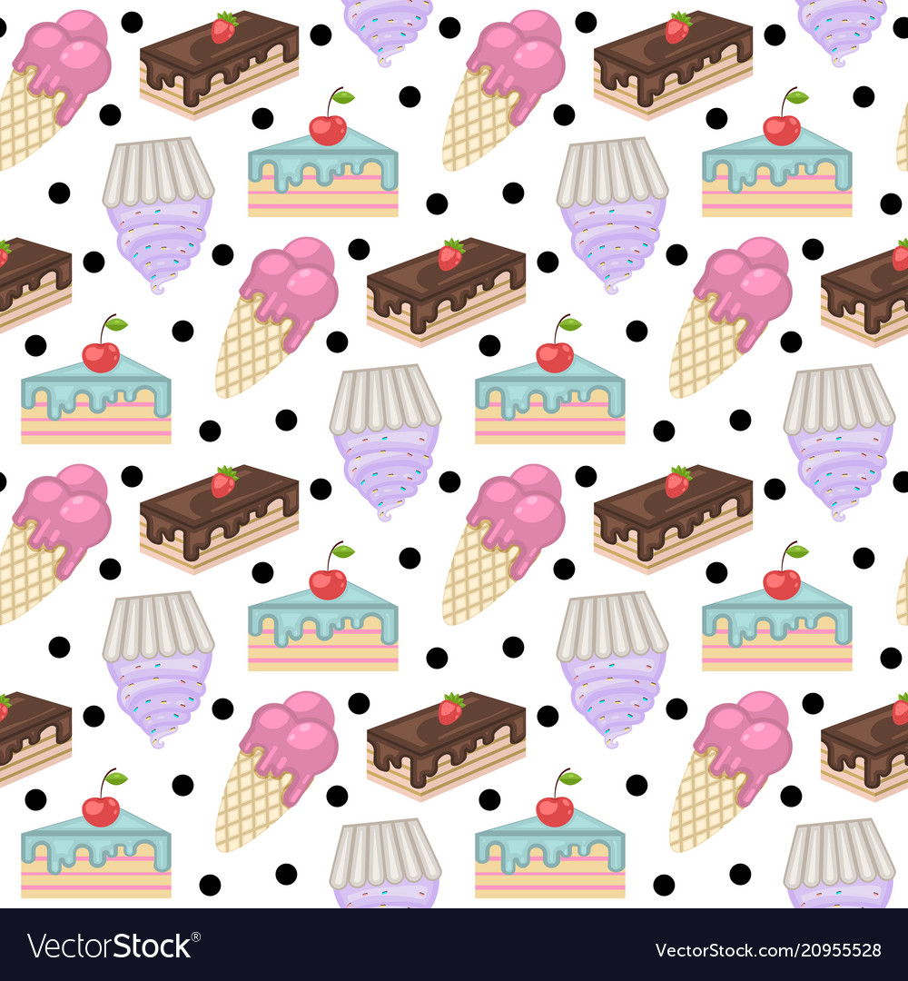 Sweets patternpattern with cake