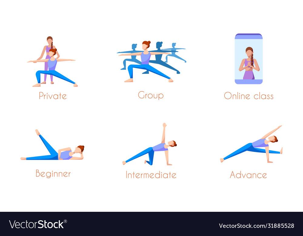 Yoga Class Icon Royalty Free Vector Image Vectorstock