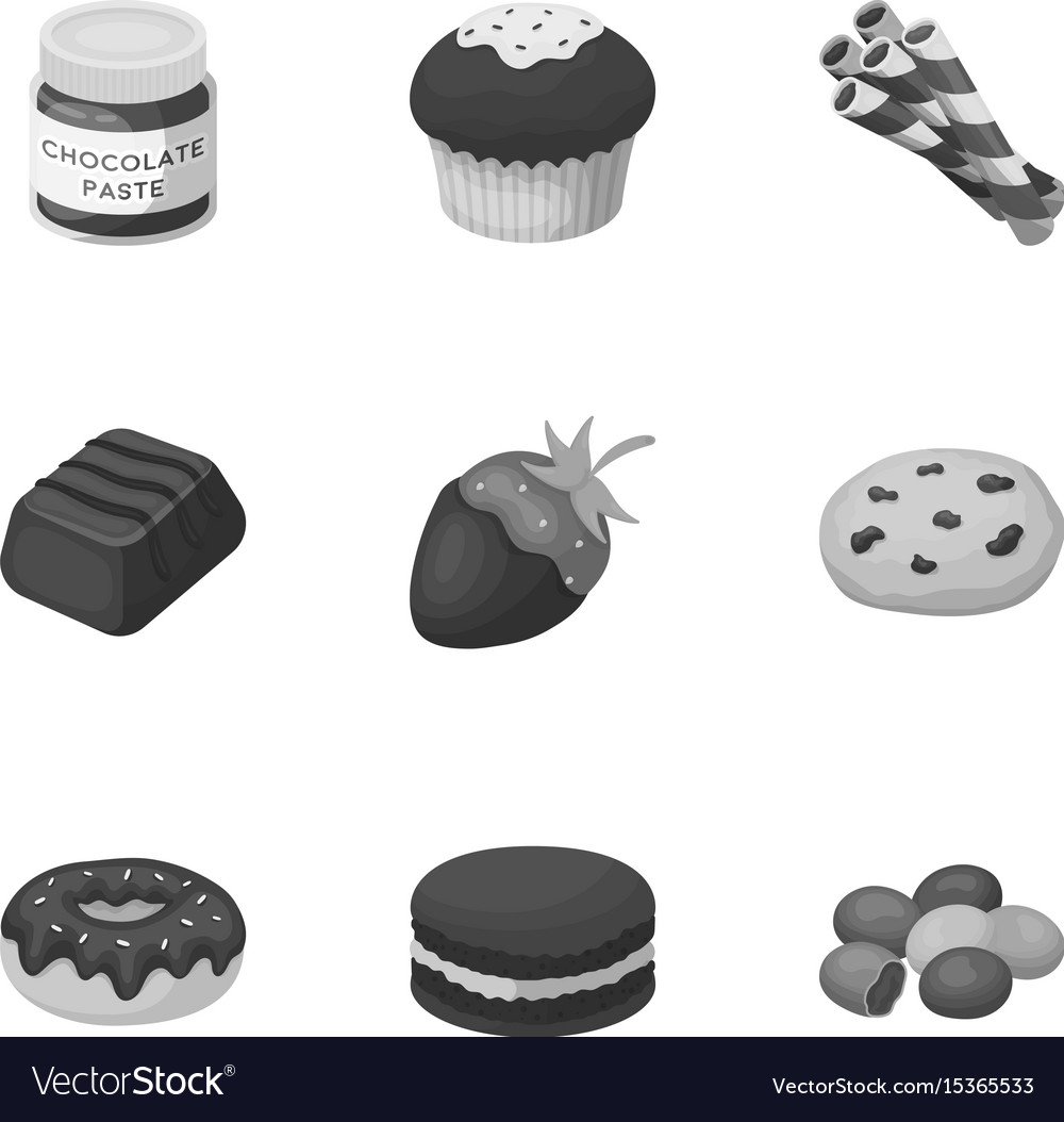 A set of chocolate sweets chocolate products for