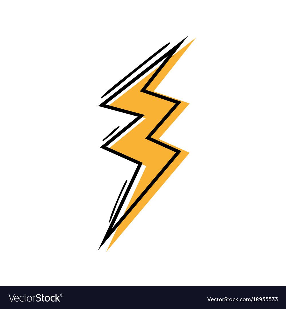 color thunder symbol icon warning alert royalty free vector vectorstock