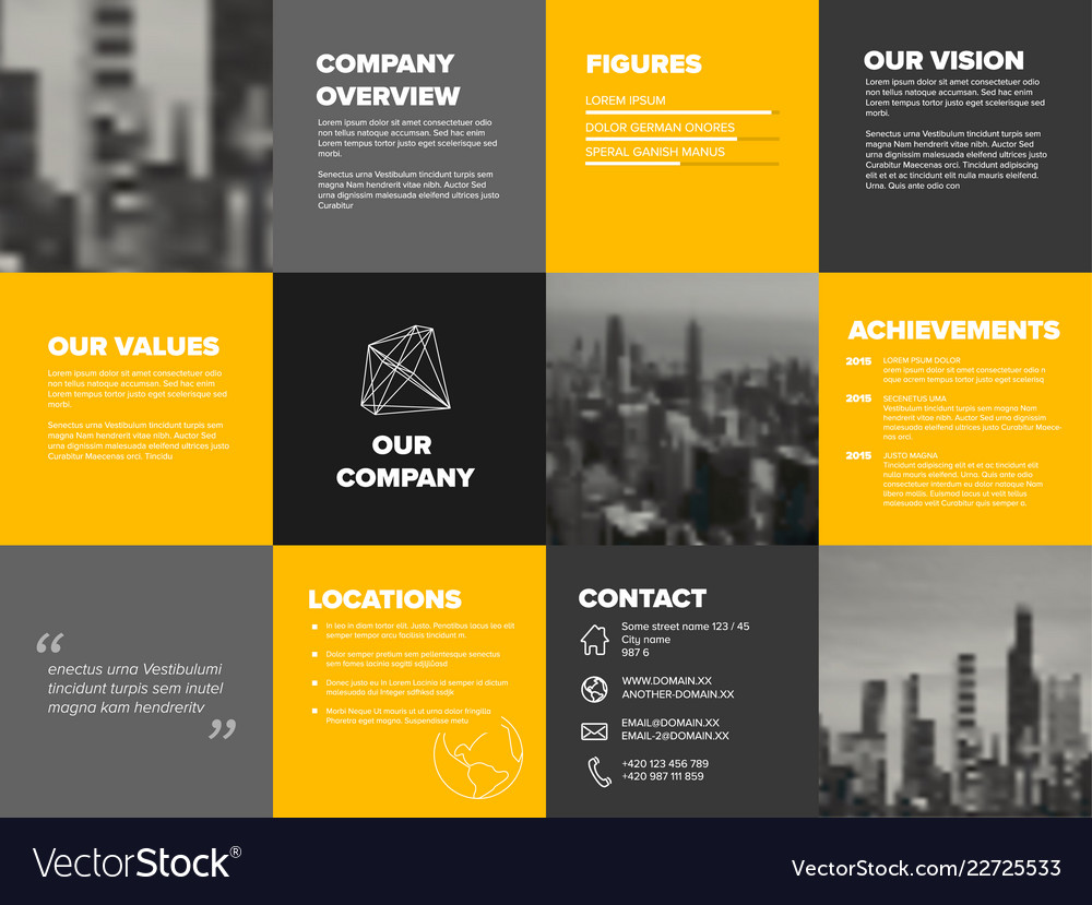 company profile template royalty free vector image. Black Bedroom Furniture Sets. Home Design Ideas