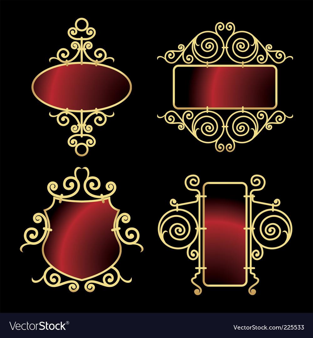 Elegant frames Royalty Free Vector Image - VectorStock