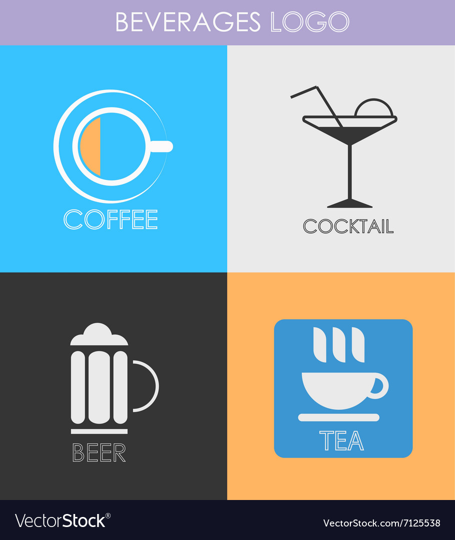 Alcoholic beverage icons Patterns logo