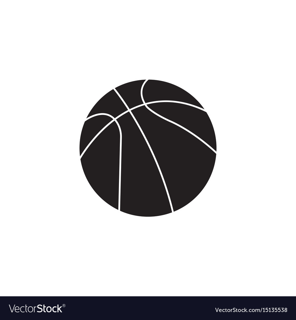 Basketball ball solid icon sport graphics vector image