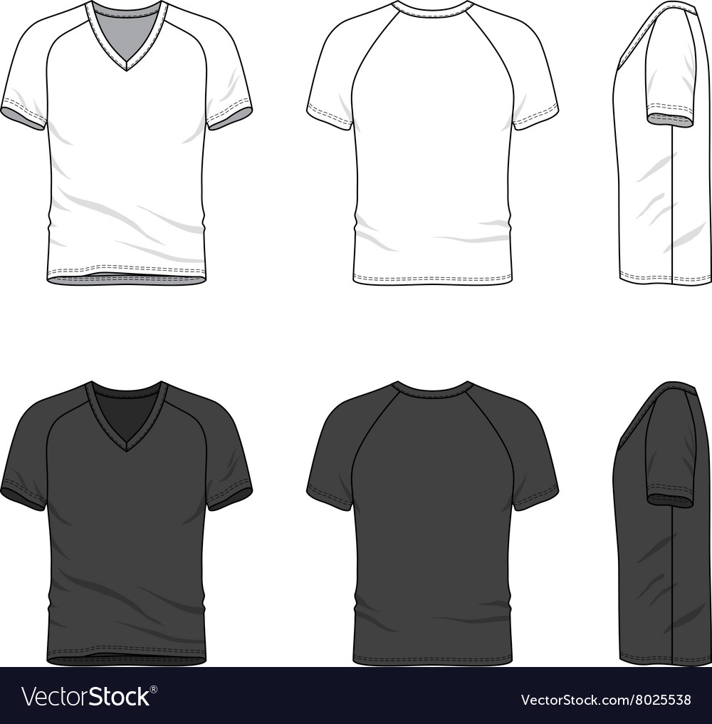 af269235629a Blank v-neck t-shirt Royalty Free Vector Image