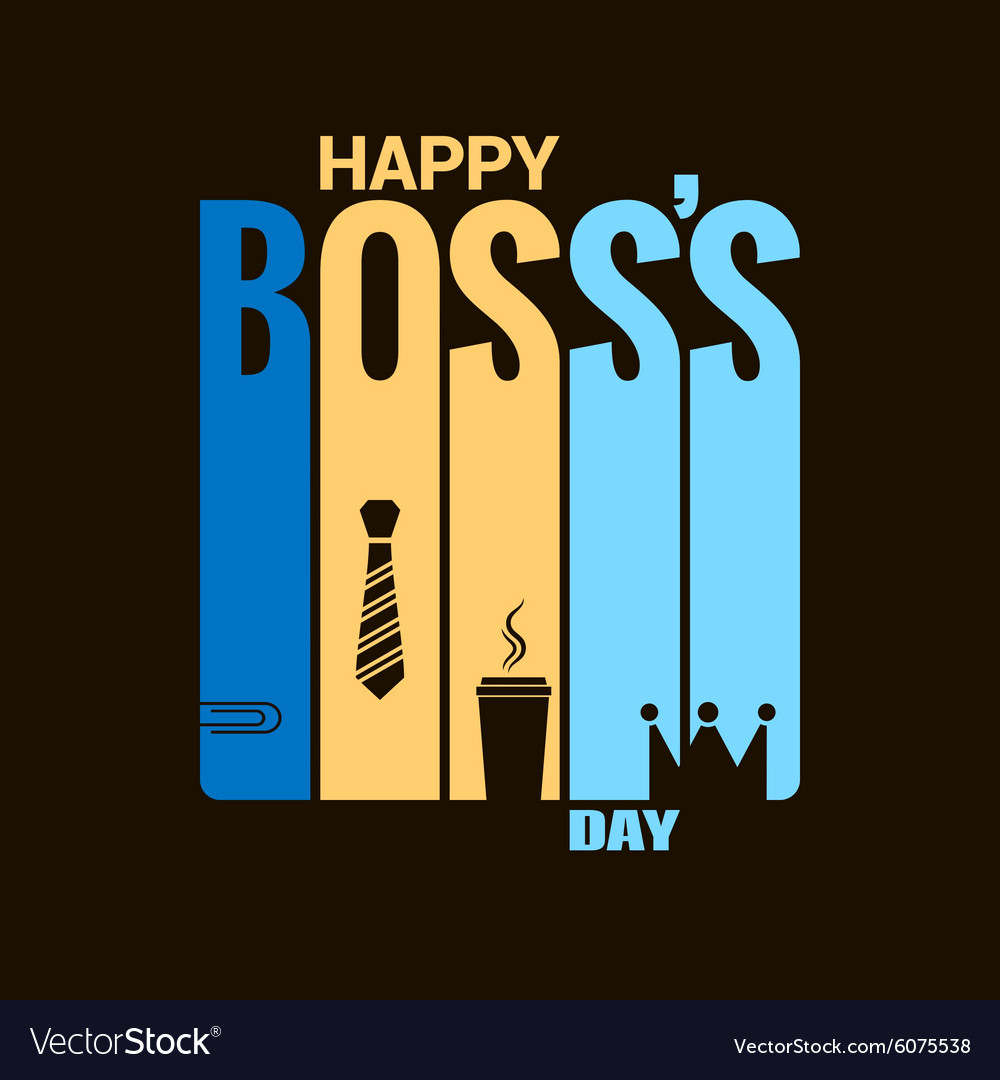 Boss day holiday design background