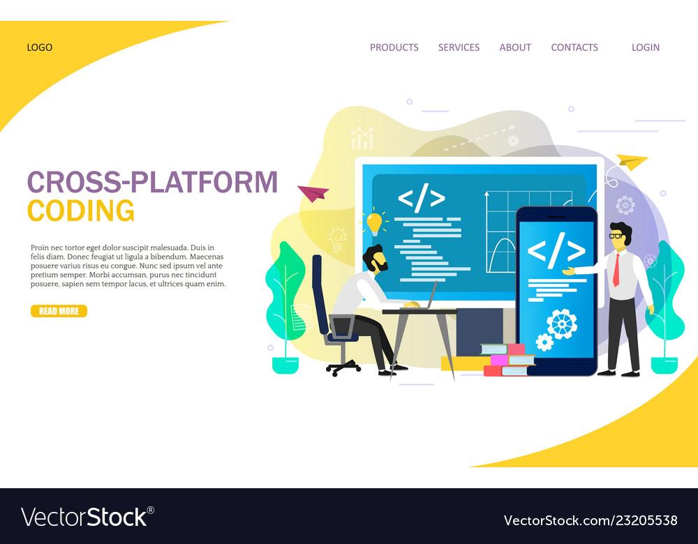 Cross-platform coding landing page website