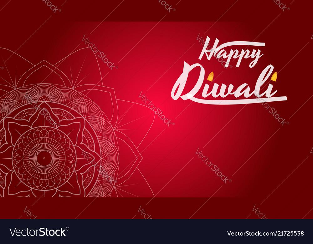 Diwali festival greeting card flyer background vector image m4hsunfo