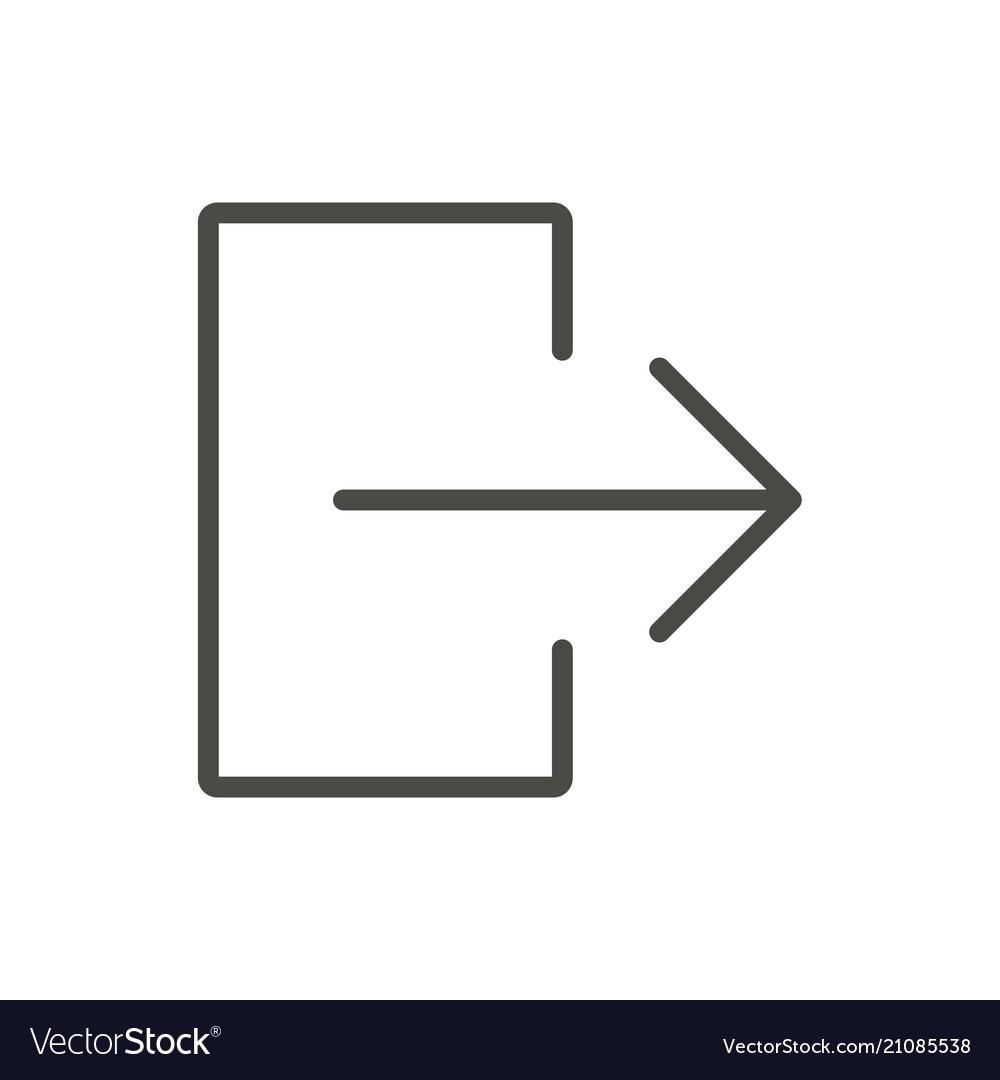 Exit door icon line logout symbol