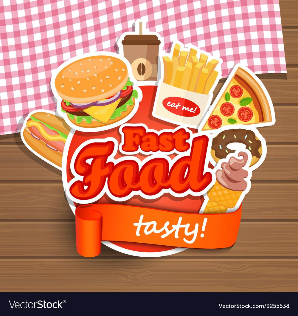 Fast food design template