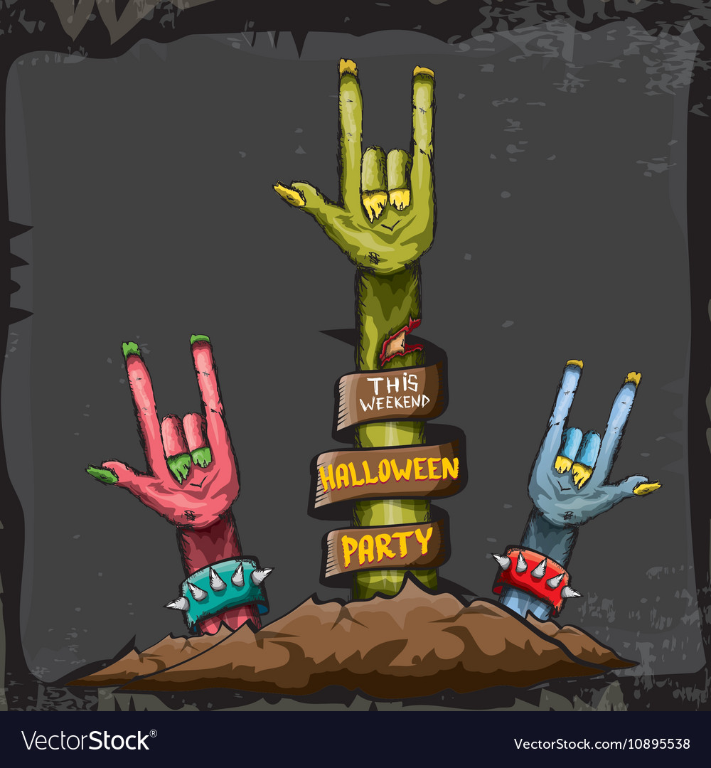 Halloween rock n roll zombie background