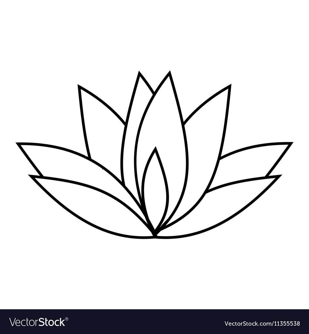 Lotus icon outline style royalty free vector image lotus icon outline style vector image izmirmasajfo