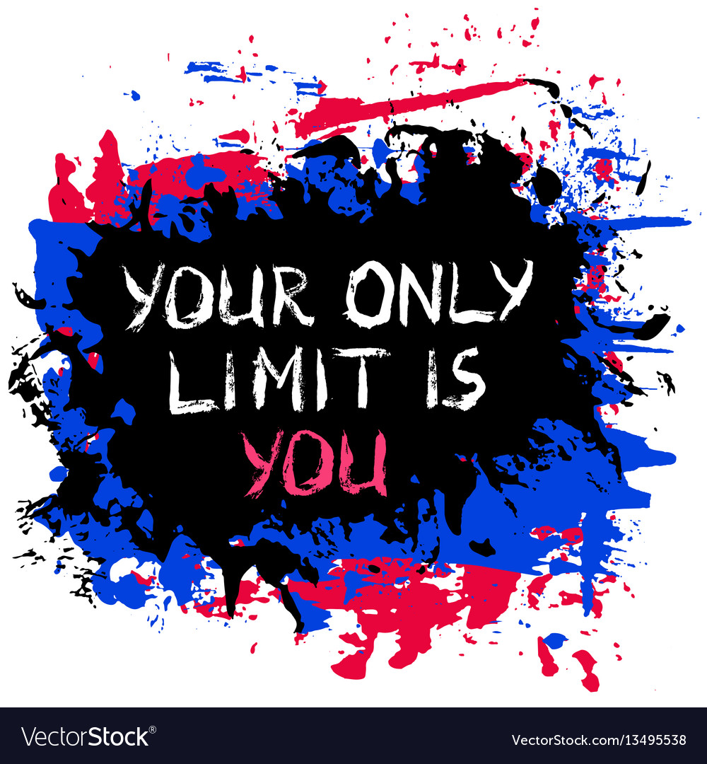 Painted motivational poster vector image