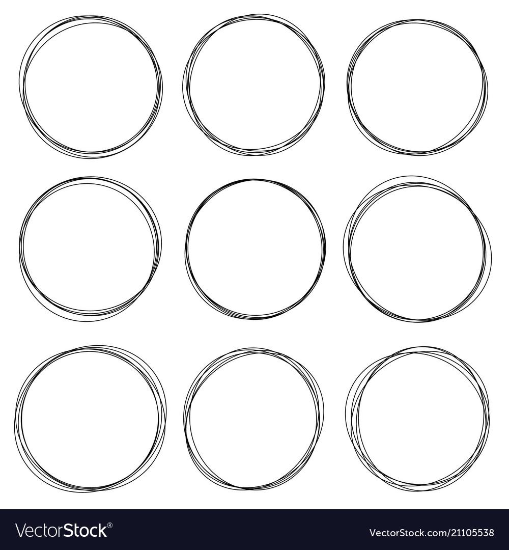 Sketched circles