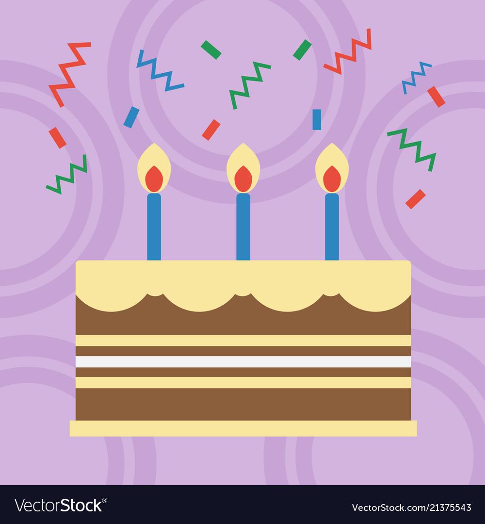Birthday cake flat design