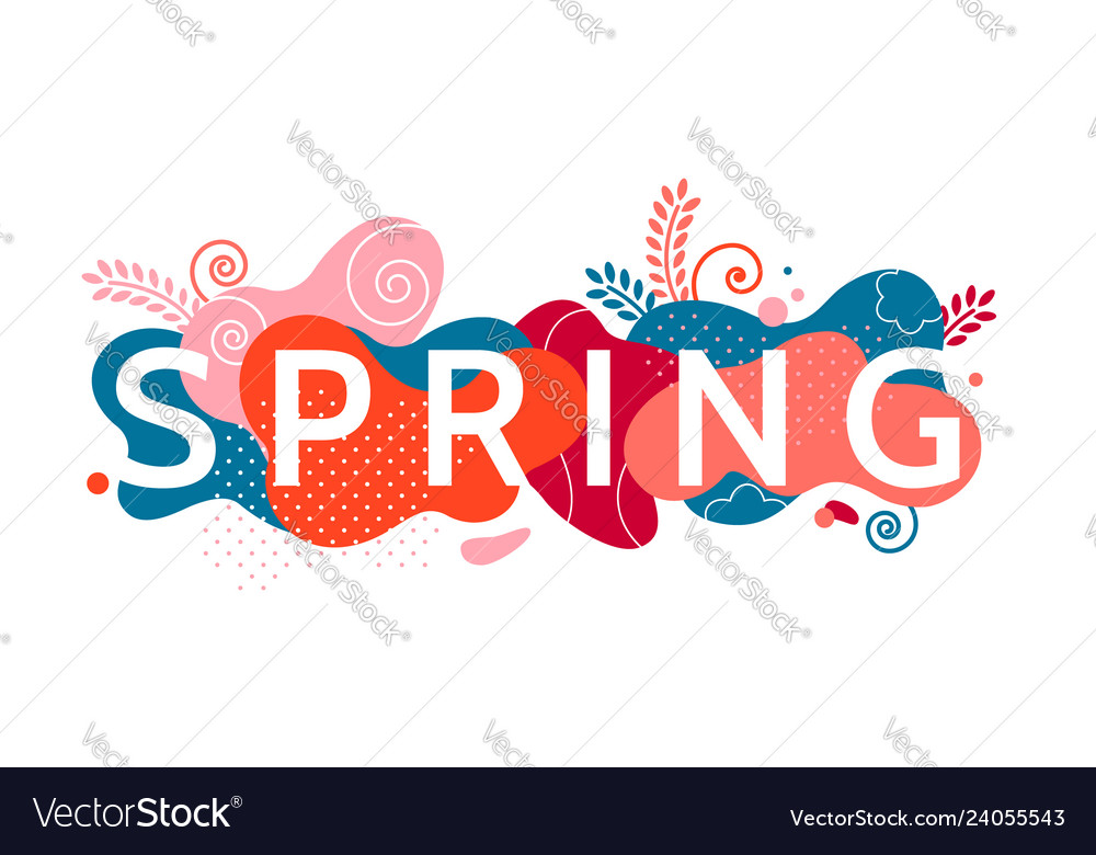 Colorful decorative banner element with