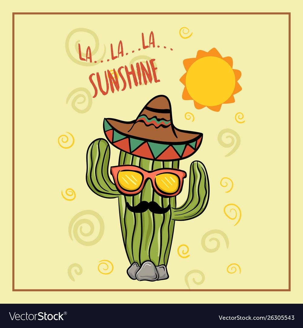 Cute cartoon cactus