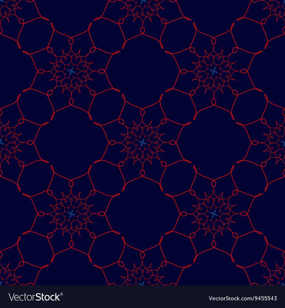Red Arabic Vintage Ornament Patterned Design vector image