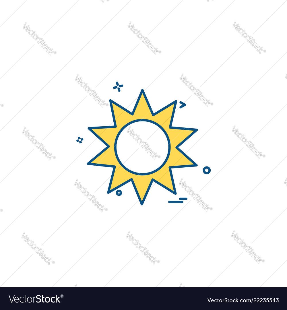 Sun shine hot icon design