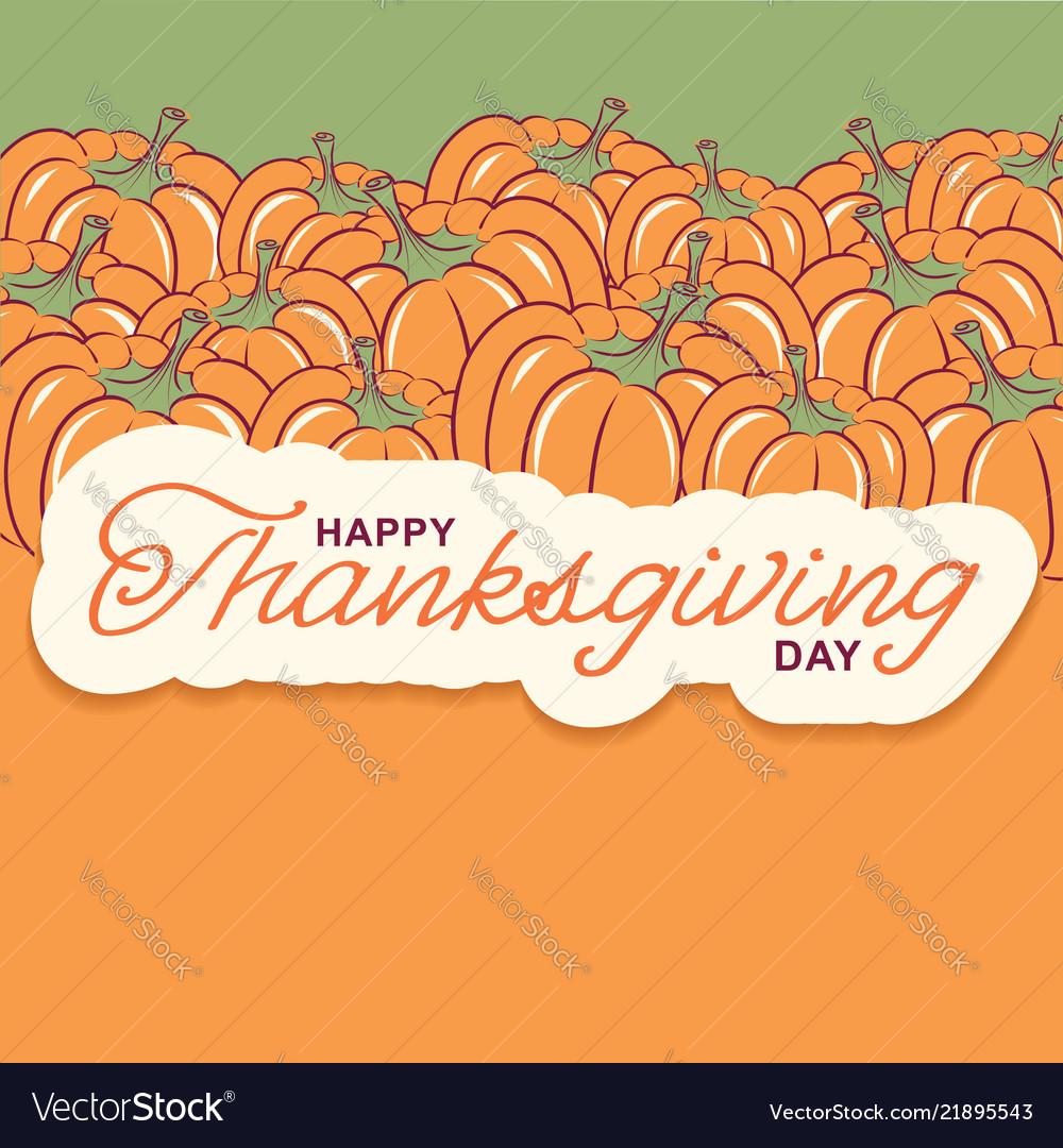 Thanksgiving background with seasonal pumpkins