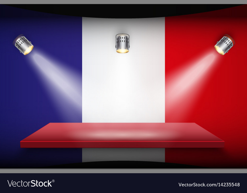 Flag of france and platform vector image