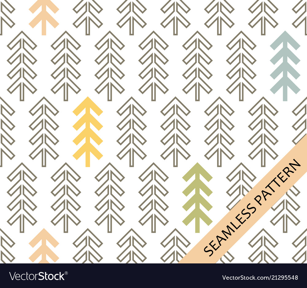 Geometric spruce on a white background