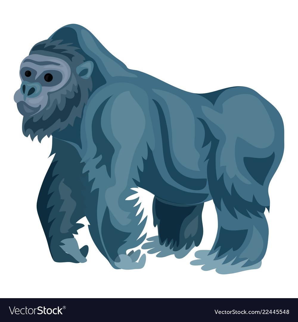 Gorilla icon cartoon style