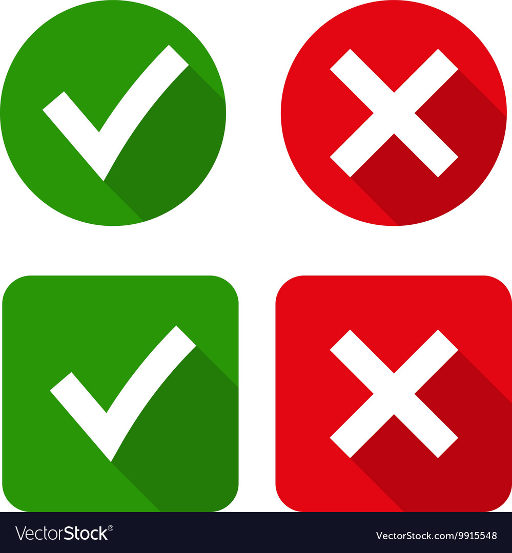 Green checkmark ok and red x icons royalty free vector image green checkmark ok and red x icons vector image stopboris Choice Image
