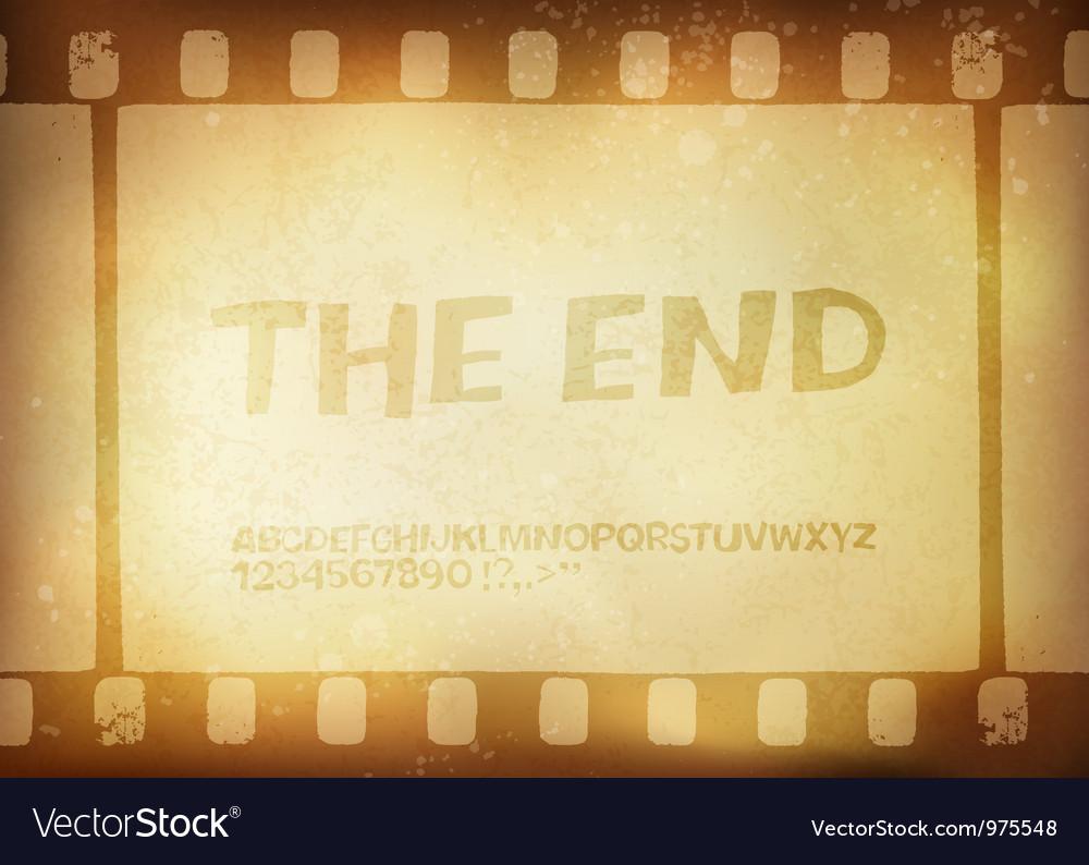 Grunge film stripe background vector image