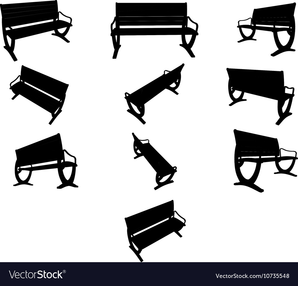 Image Benches black silhouettes