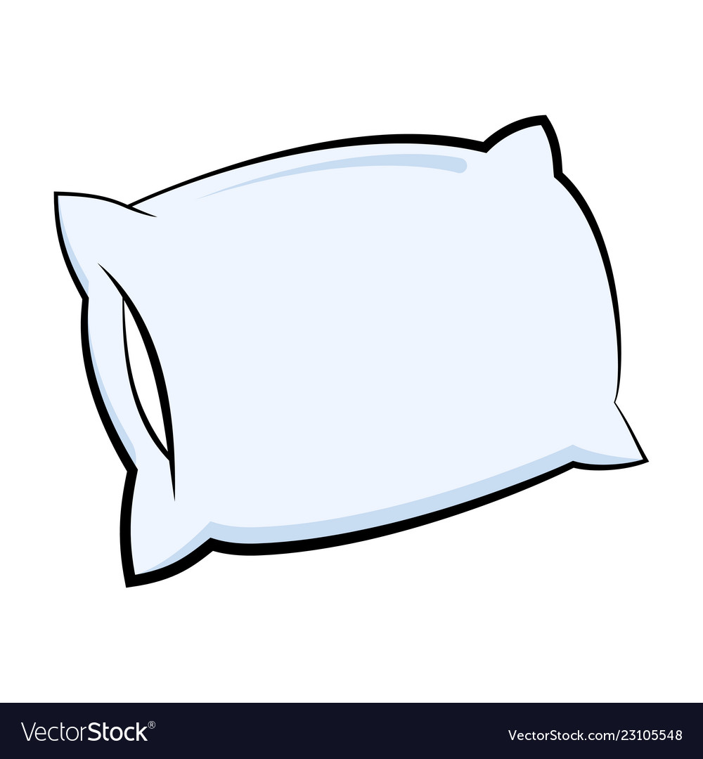 Pillow icon in cartoon style Royalty Free Vector Image