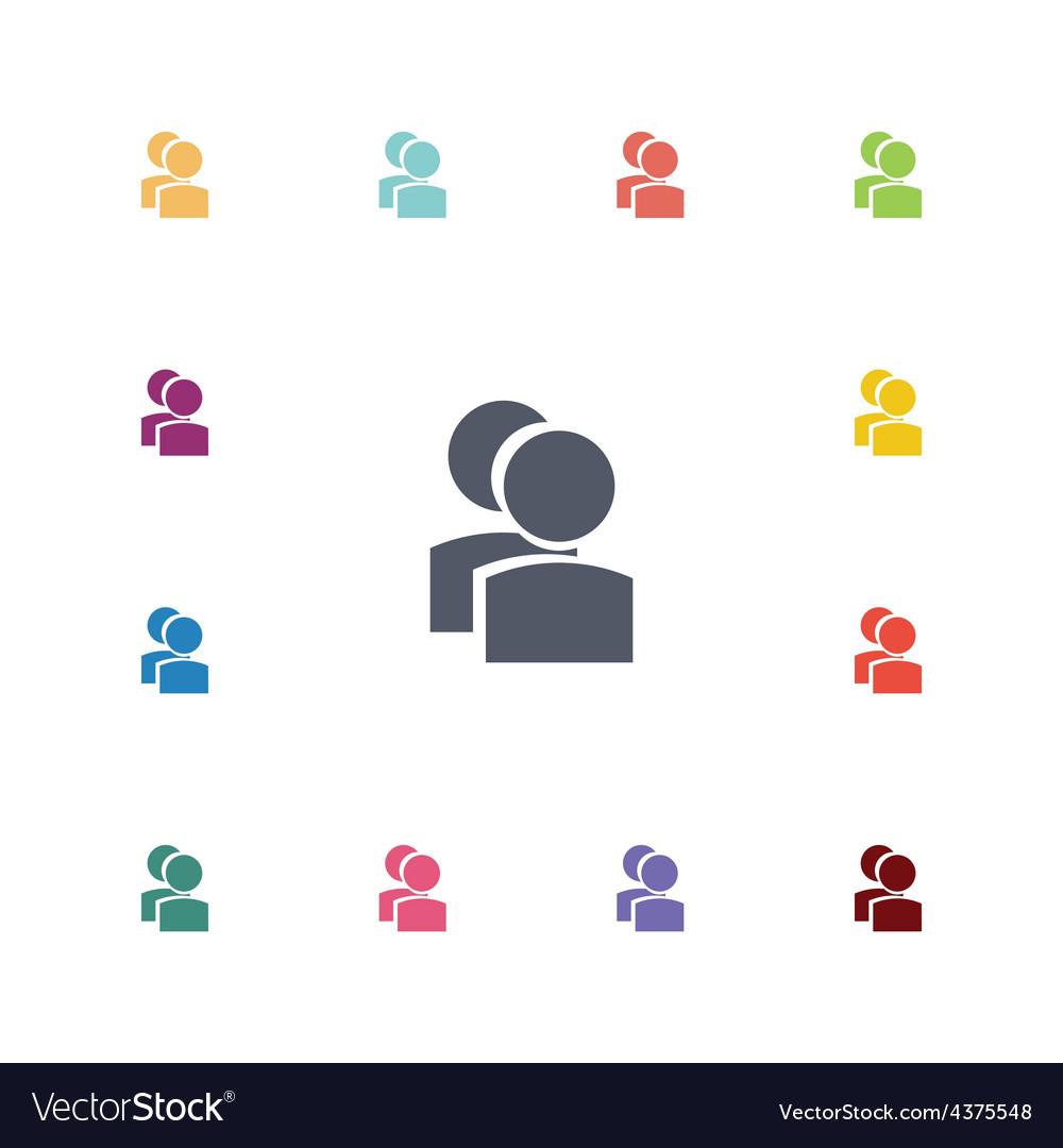 Team flat icons set vector image