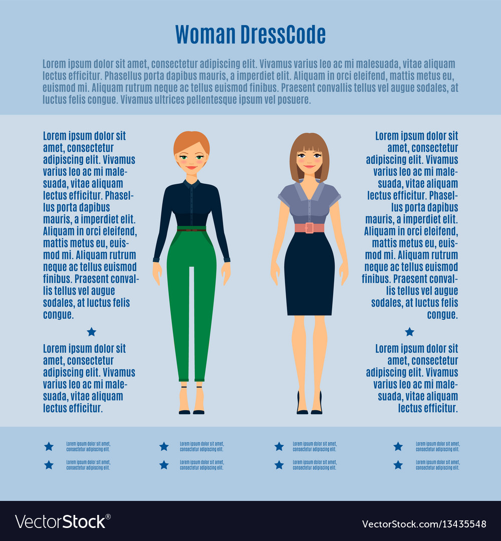 Woman dress code infographic