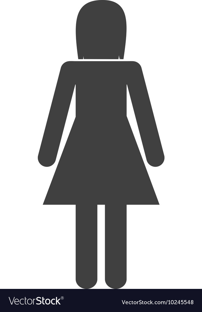 Woman female pictogram person people icon vector image