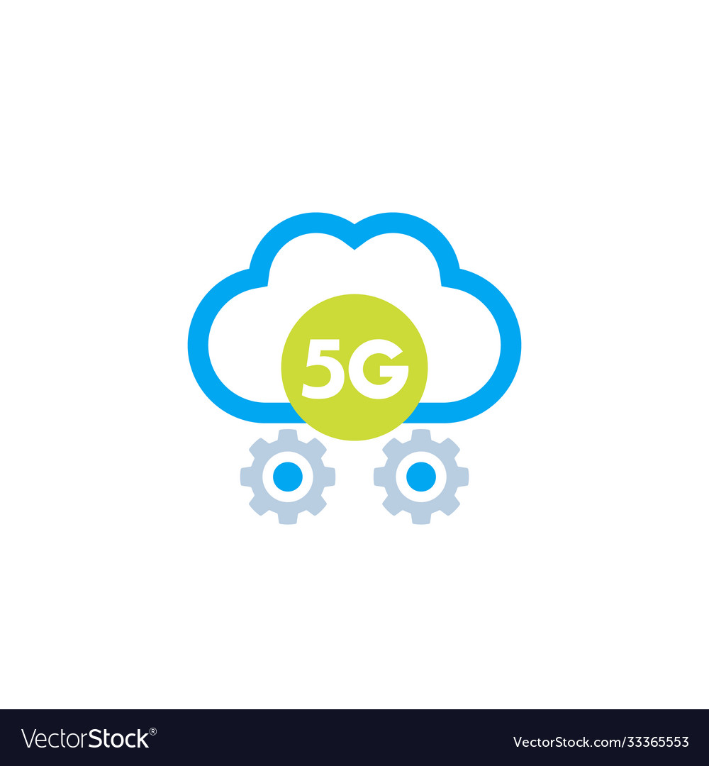 5g network icon with cloud