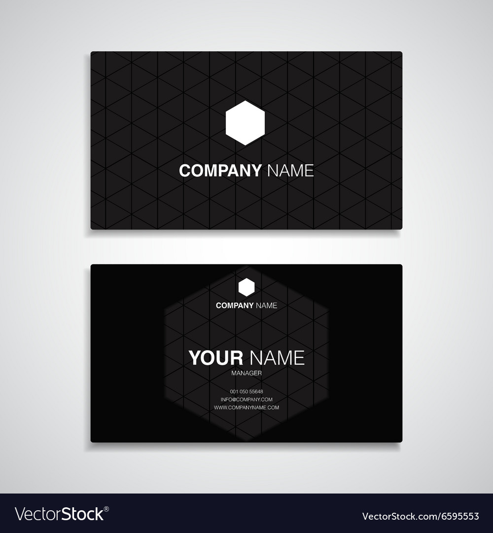 Business card name black template