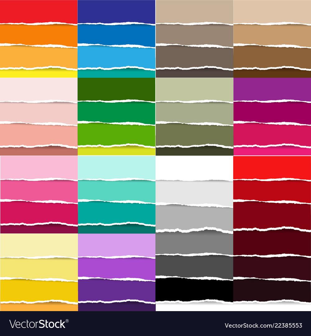 Color torn paper big set