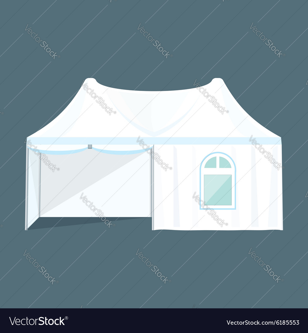Double folding tent marquee vector image