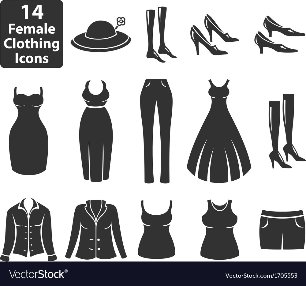 Female Clothing Icons