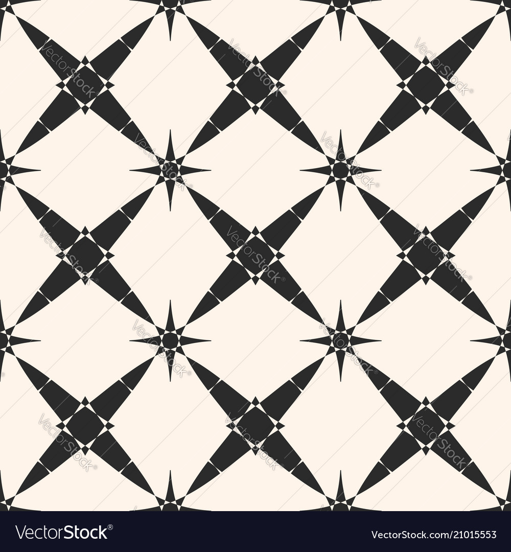 Ornamental stars geometric seamless pattern