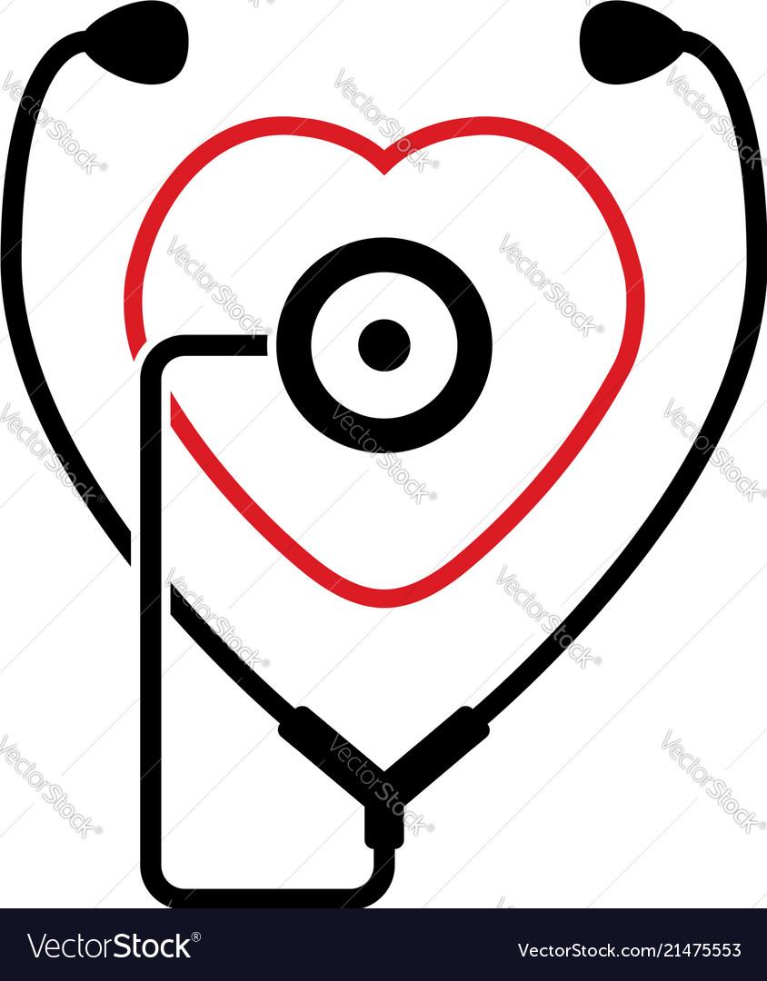 Symbol of medical stethoscope