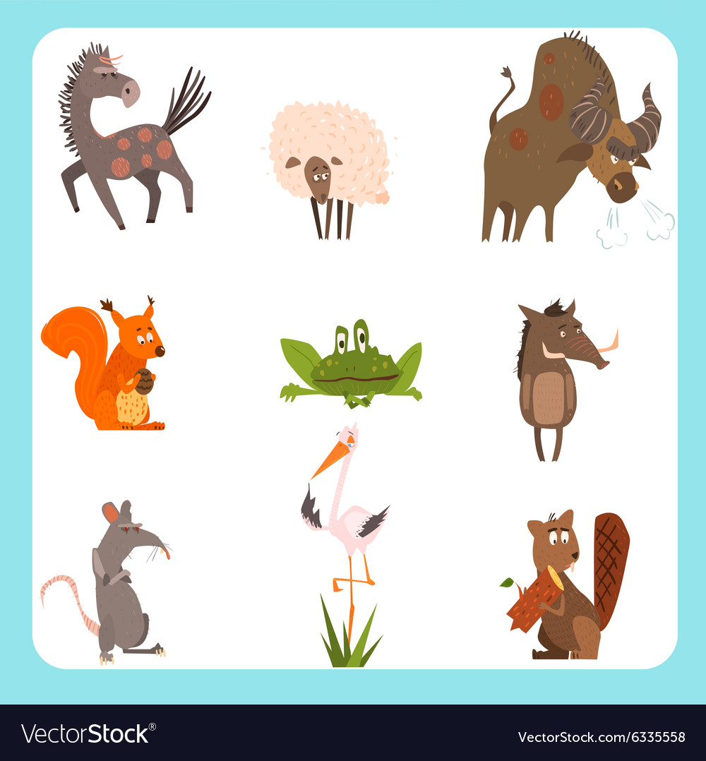 Domestic and Wild Animals Set