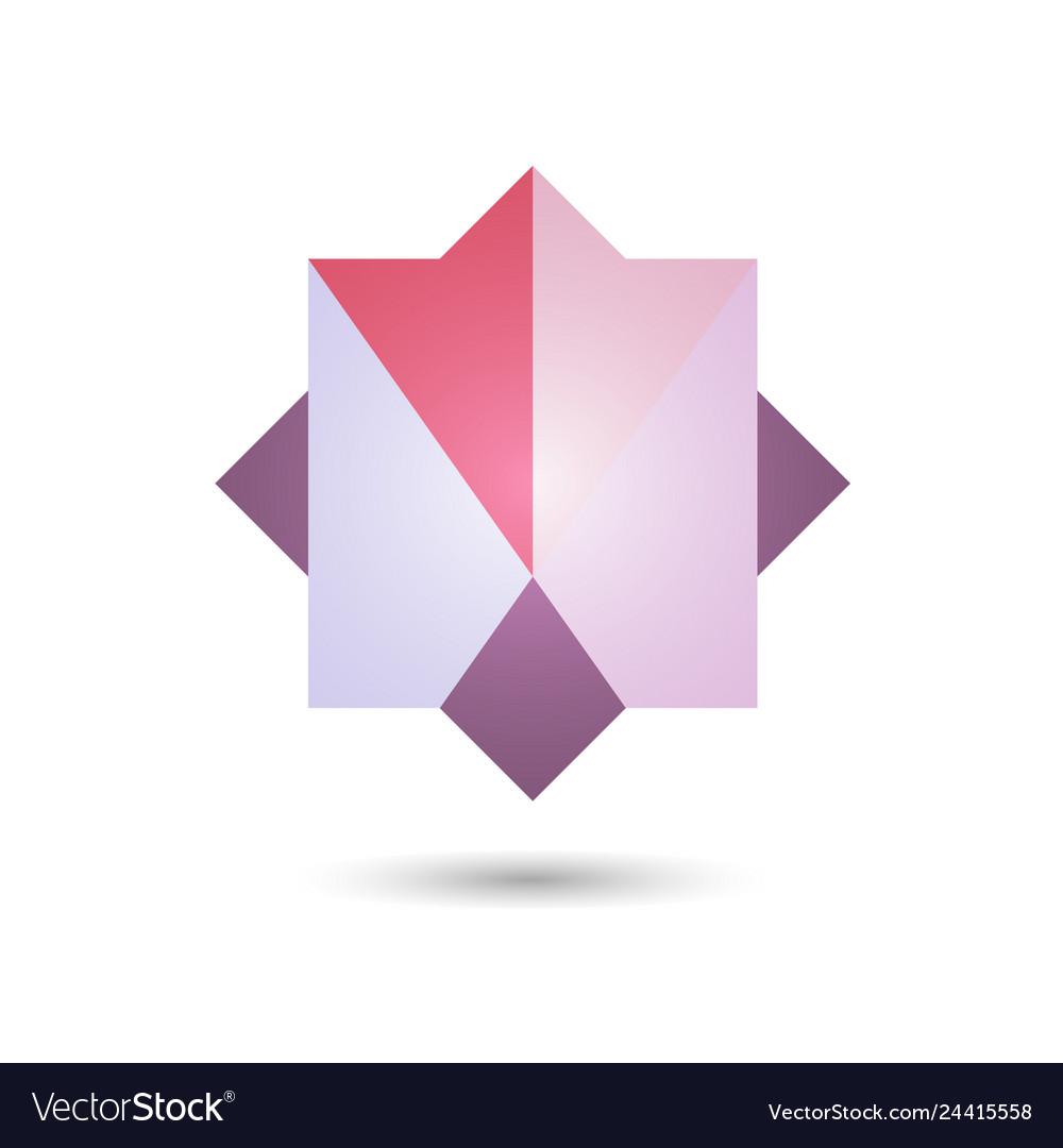 Polygonal geometric figurefor web design