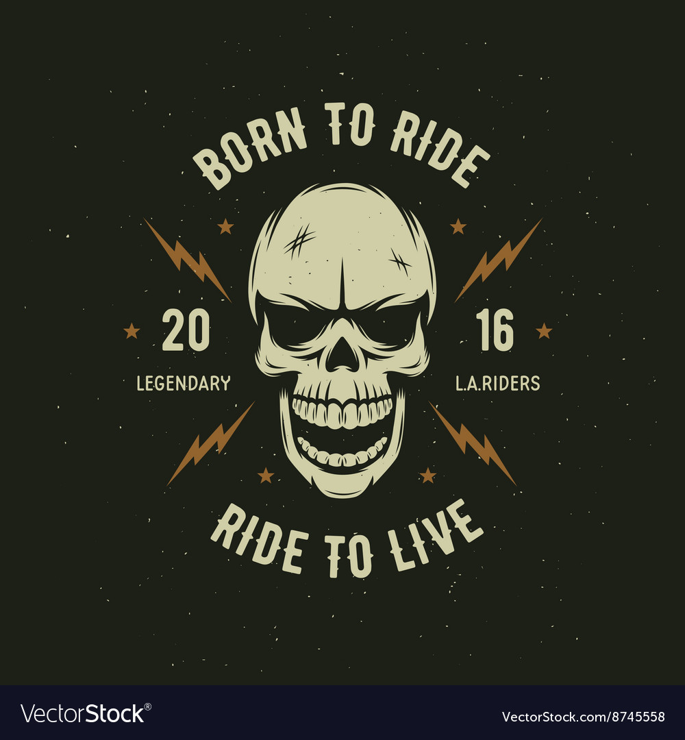 Vintage motorcycle t-shirt graphics Born to ride vector image