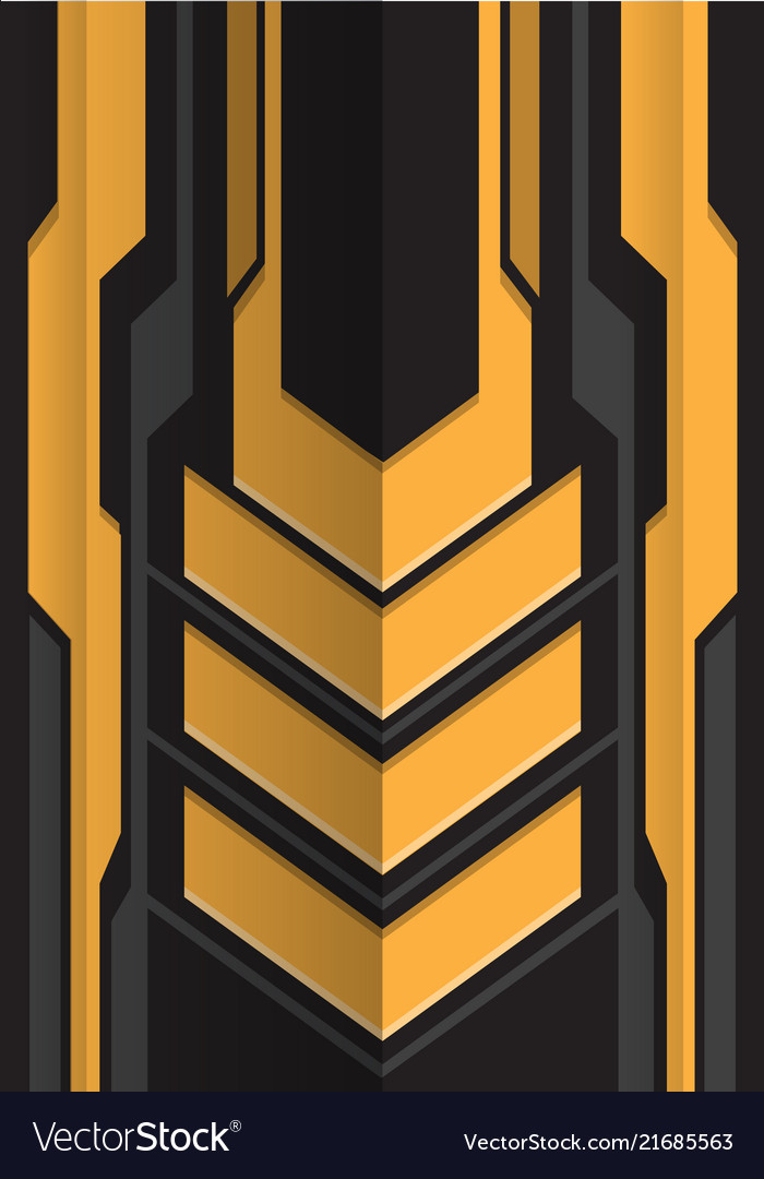 Abstract yellow gray arrow futuristic