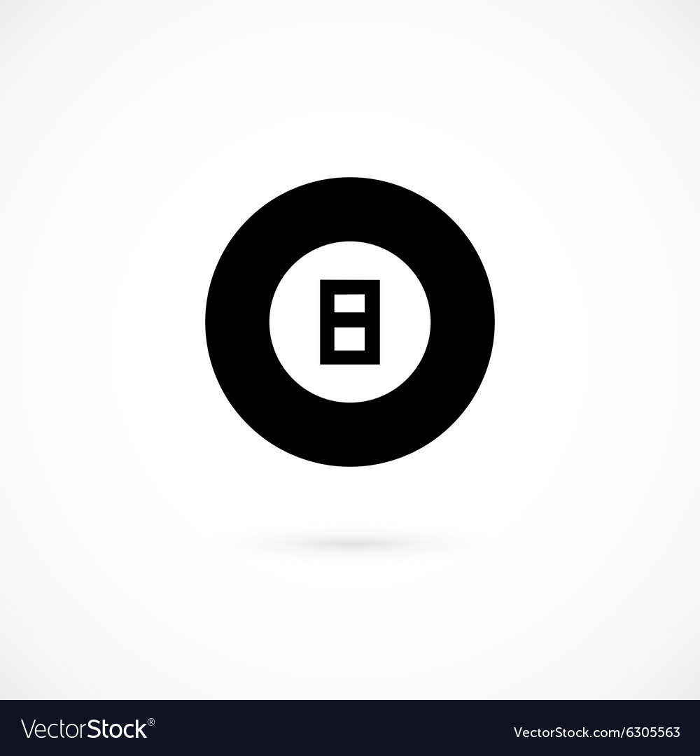 Billiard icon isolated on white background vector image