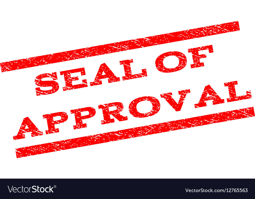 Seal Of Approval Watermark Stamp Vector Image